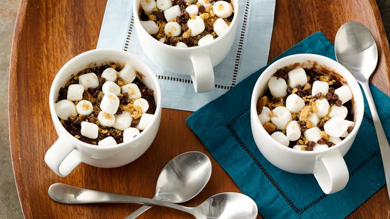 Betty Crocker 3 Ingredient Christmas Swirl Fudge  S'mores Mug Brownie recipe from Betty Crocker