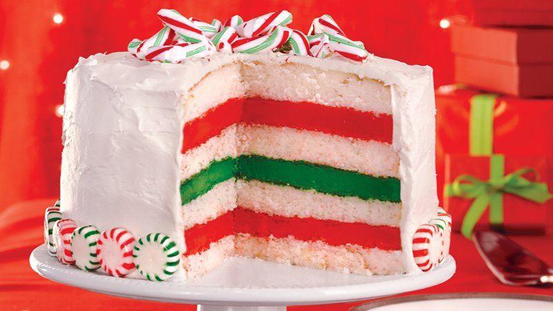 Betty Crocker Christmas Desserts  Peppermint Layer Cake recipe from Betty Crocker