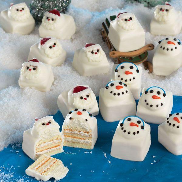 Bite Size Christmas Desserts  Santa & Snowmen Fun Cakes These fun cakes are a new twist