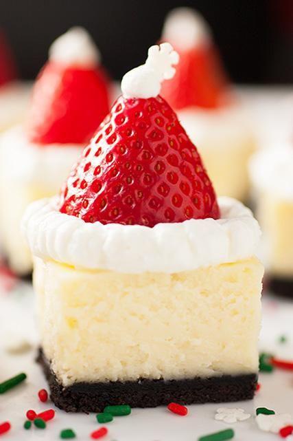 Bite Size Christmas Desserts  Cheesecake bites Bite size and Cheesecake on Pinterest