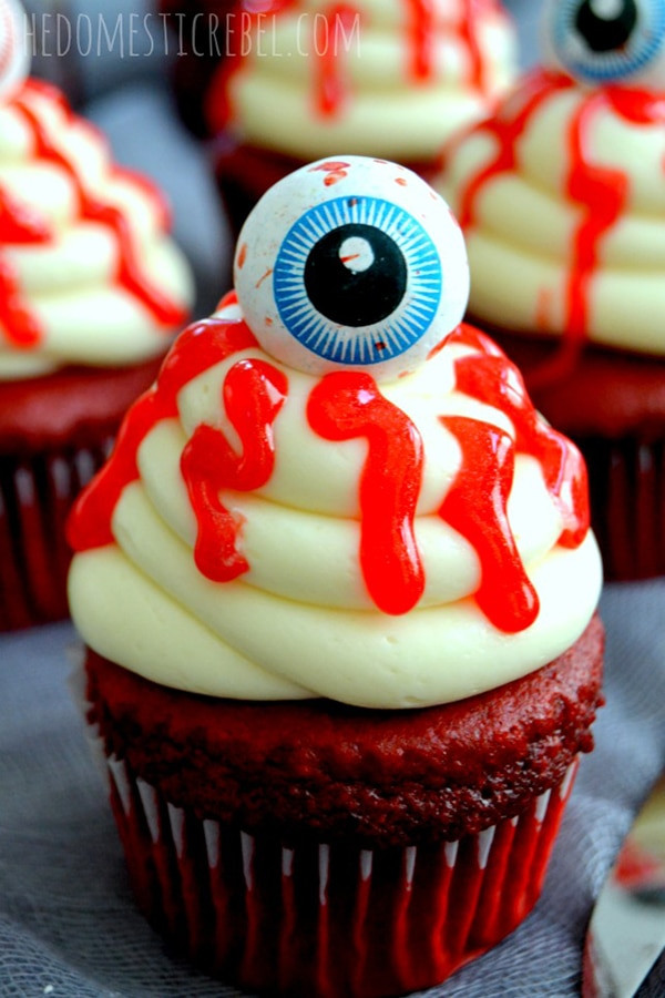 Bloody Halloween Cupcakes  12 Halloween Cupcakes You ll Be Too Scared to Eat