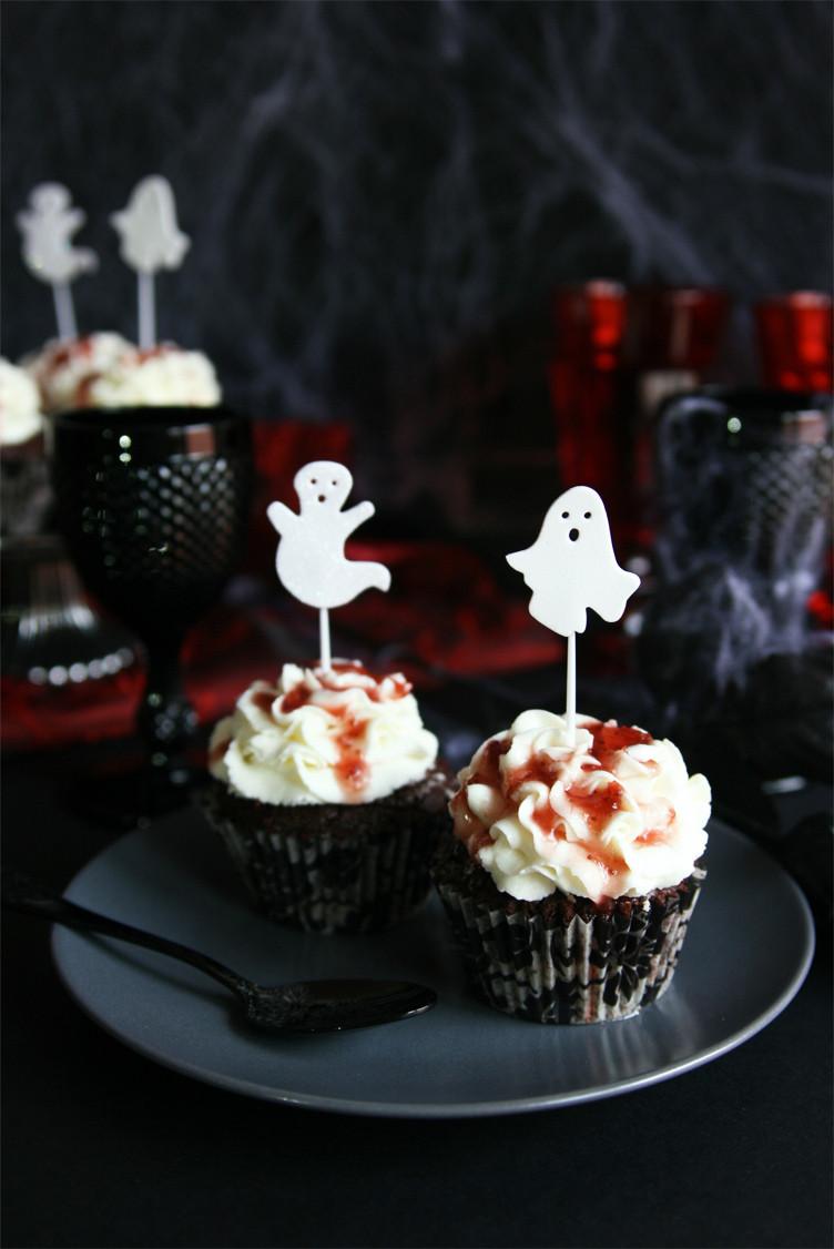 Bloody Halloween Cupcakes  Cinnamon Girl Bloody Halloween Cupcakes
