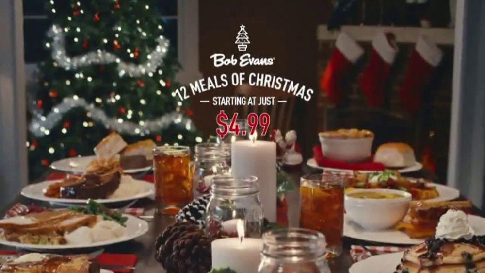 Bob Evans Christmas Dinner  Bob Evans Farms TV mercial 12 Meals of Christmas
