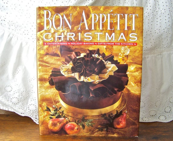 Bon Appetit Christmas Cookies  Vintage Bon Appetit Christmas Entertaining Holiday Baking
