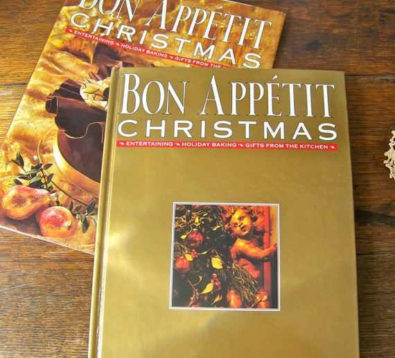 Bon Appetit Christmas Cookies  Vintage Bon Appetit Christmas Entertaining by CynthiasAttic