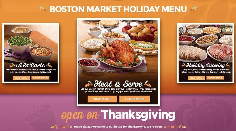 Boston Market Thanksgiving Dinners To Go  Boston Market Thanksgiving Dinner Menu 2015 Meal Hours