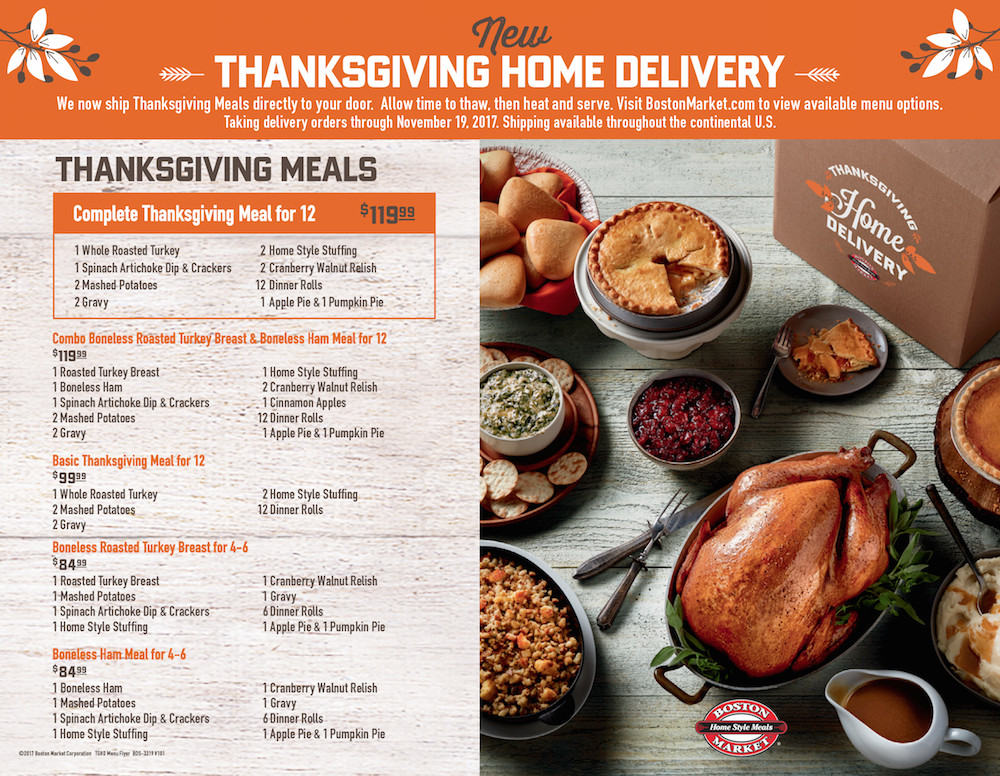 Boston Market Thanksgiving Dinners To Go  Boston Market Is Making Thanksgiving Day Wonderful For