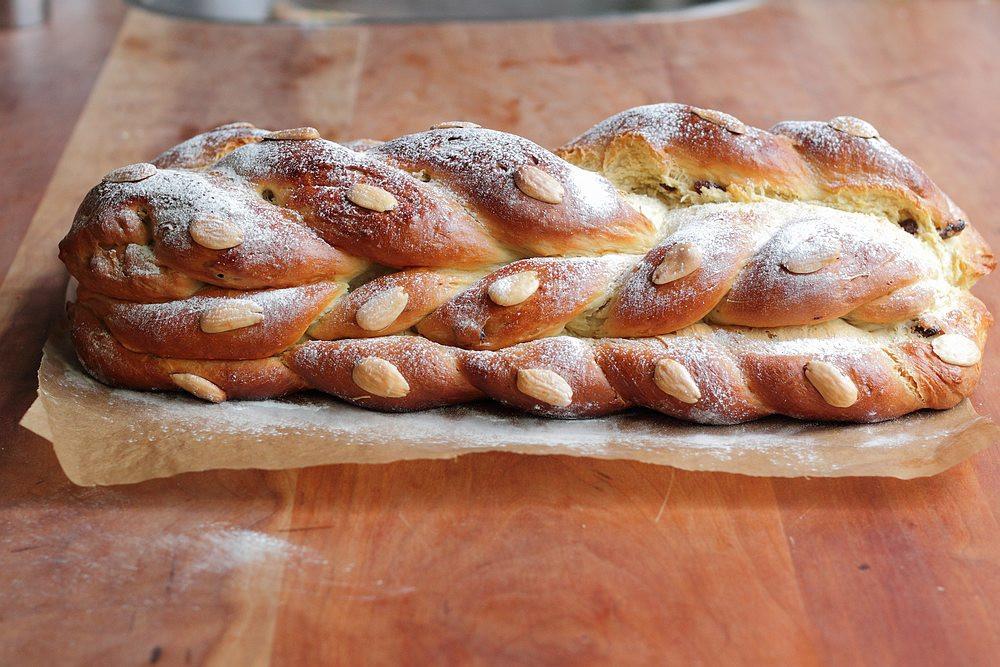 Braided Christmas Bread  Vanocka the sweet Czech Christmas bread