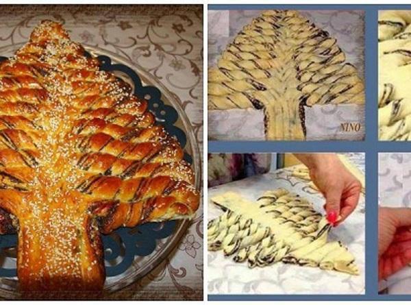 Braided Christmas Bread  Braided Nutella Christmas Tree Bread Recipe