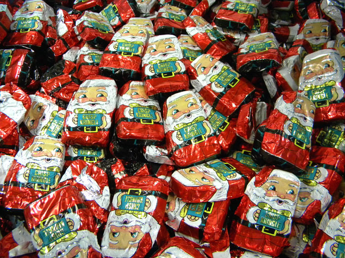 Bulk Christmas Candy Wholesale  Mini Chocolate Crisp Kringles 24lb