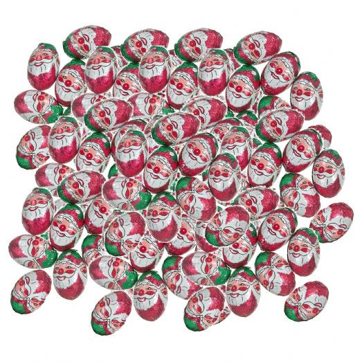 Bulk Christmas Candy Wholesale  100 x Foiled Santa Balls Milk Chocolate Father Christmas