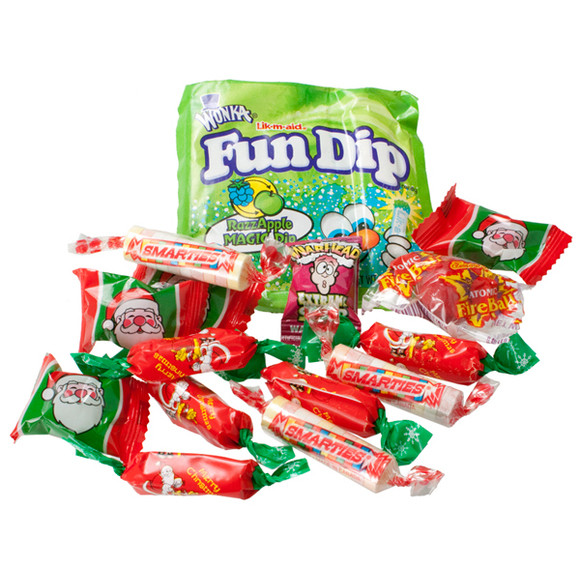 Bulk Christmas Candy Wholesale  Christmas Candy 7 Ounce Mesh Stockings 36 Piece Case