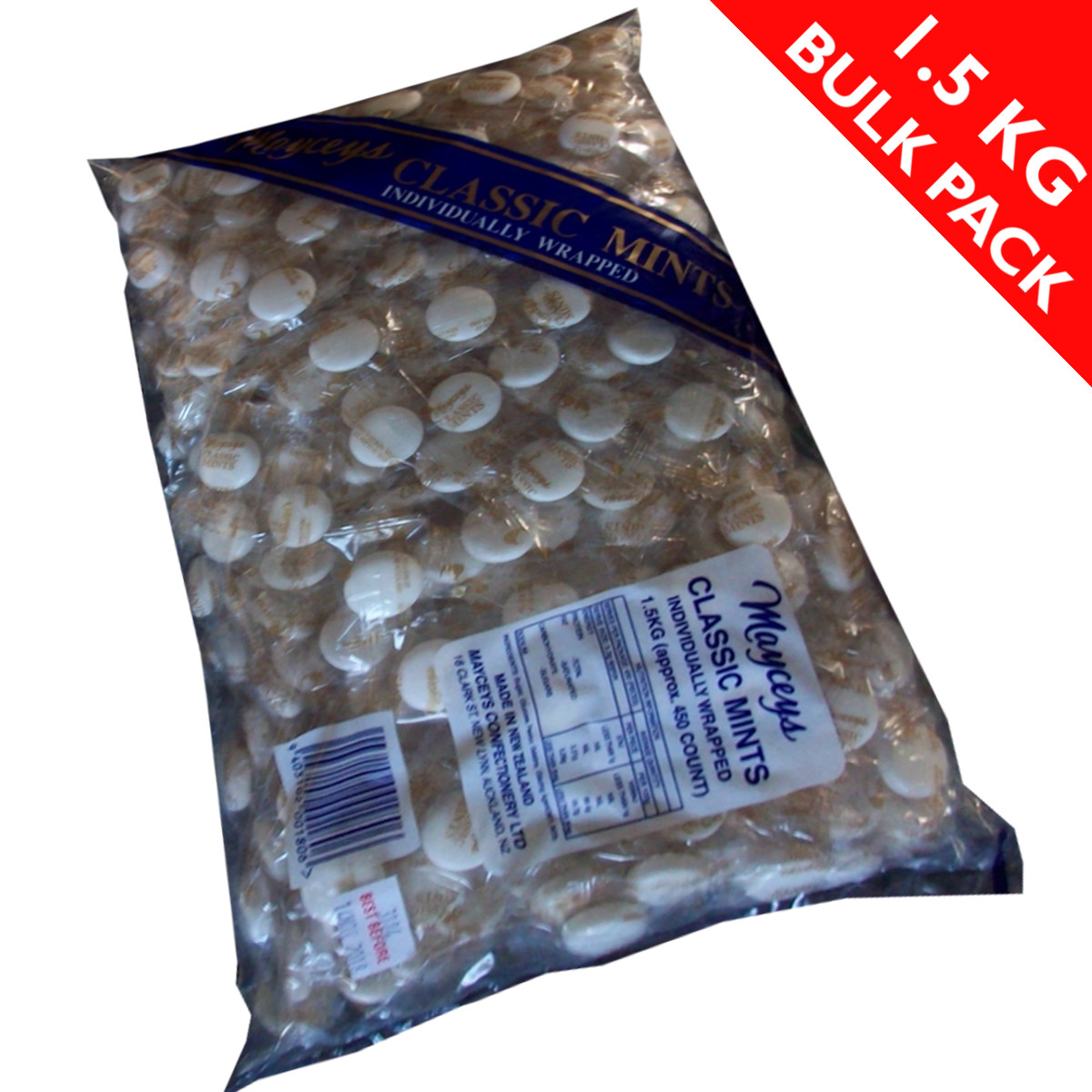 Bulk Individually Wrapped Christmas Candy  Classic Mints – 1 5kg