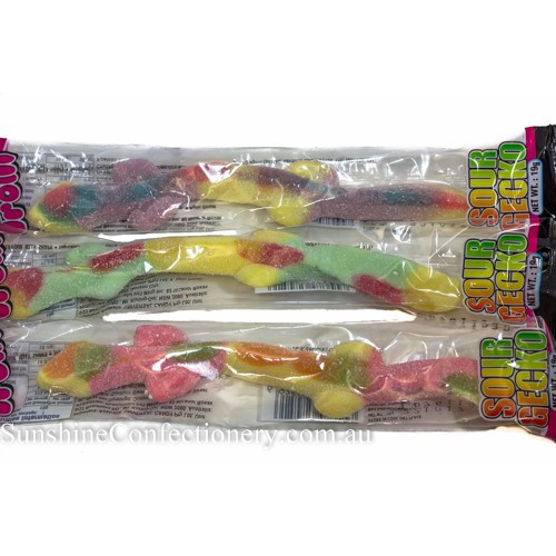 Bulk Individually Wrapped Christmas Candy  SOUR GECKO by Trolli individually wrapped