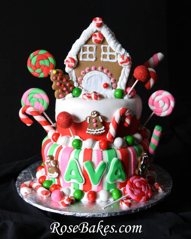 Cakes For Christmas  Gingerbread House Christmas Candy Birthday Cake
