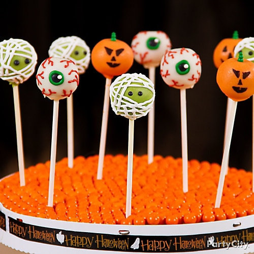 Cakes Pops Halloween  Friendly Monster Halloween Cake Pops Friendly Halloween