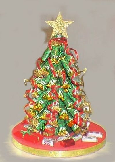 Candy Bar Christmas Tree  Candy bar Christmas tree craft Easy fun centerpiece and
