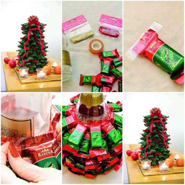 Candy Bar Christmas Tree  DIY Chocolate Bar Christmas Tree