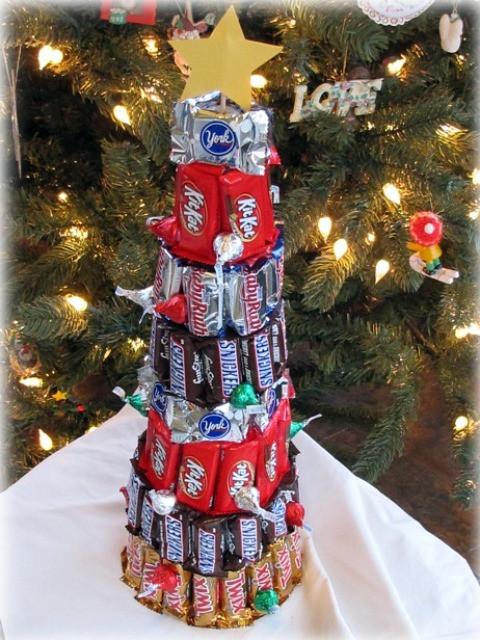 Candy Bar Christmas Tree  Candy tree