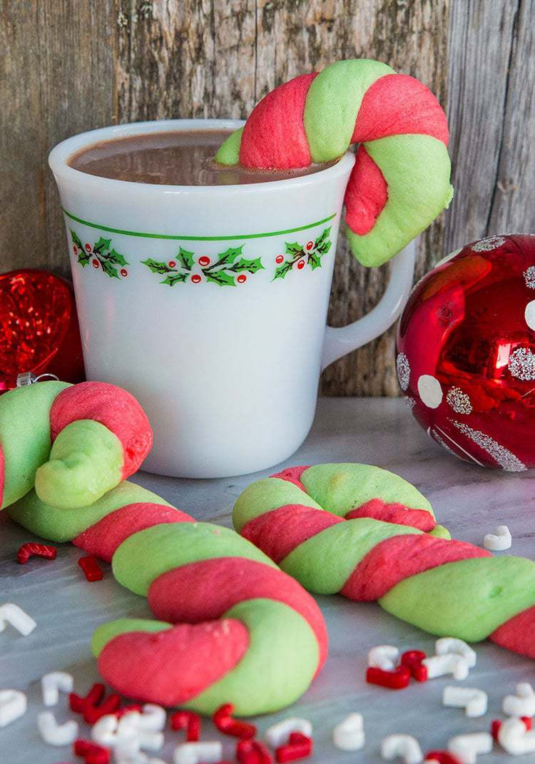 Candy Cane Christmas Cookies  Christmas Candy Cane Cookies The Kitchen Magpie