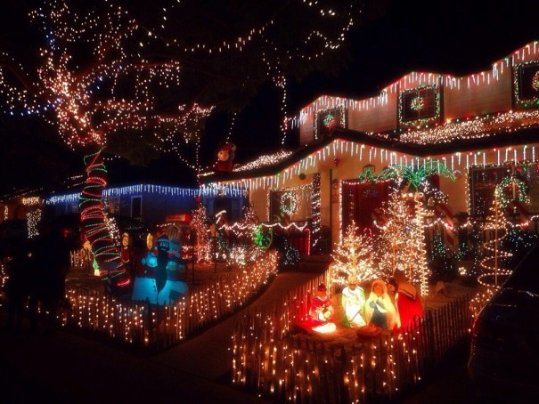Candy Cane Christmas Lights  Best Christmas Light Displays in Los Angeles
