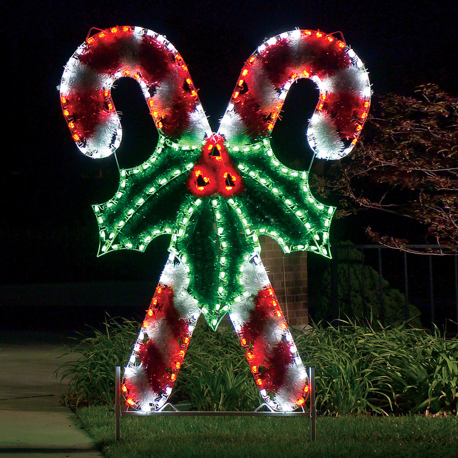Candy Cane Christmas Lights Outdoor  Candy cane outdoor lights 15 Trendy Outdoor Lights to