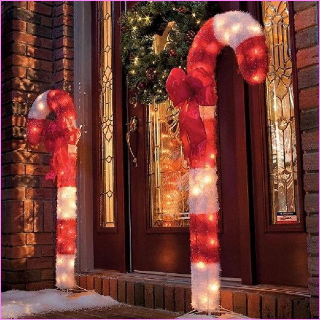 Candy Cane Christmas Lights Outdoor  Outdoor Candy Cane Decorations