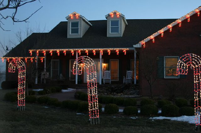 Candy Cane Christmas Lights Outdoor  LED candy cane holiday lights