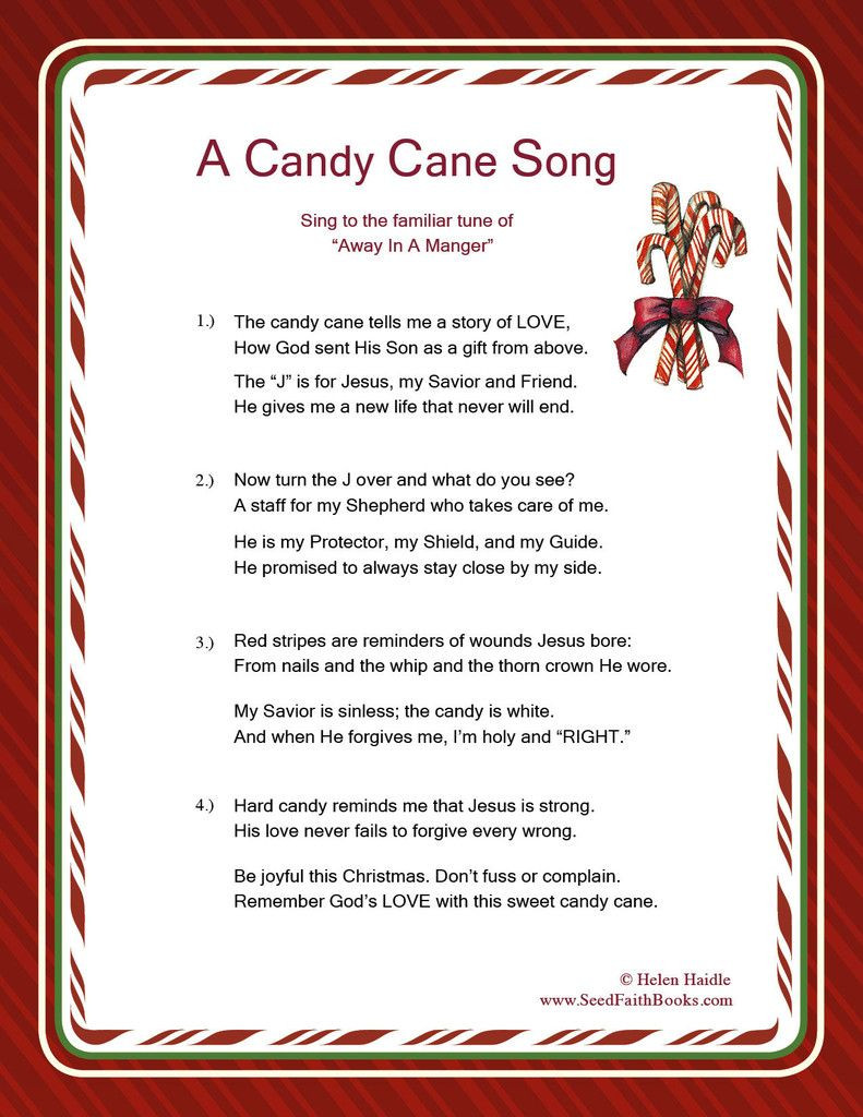Candy Cane Christmas Lyrics  Candy Cane Legend Song PDF Christmas