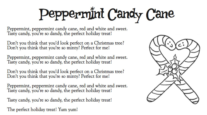 Candy Cane Christmas Lyrics  Cranston Music Kinder Lyrics