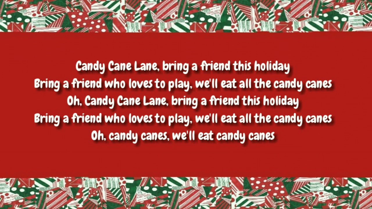 Candy Cane Christmas Lyrics  Candy Cane Lane Lyrics Sia