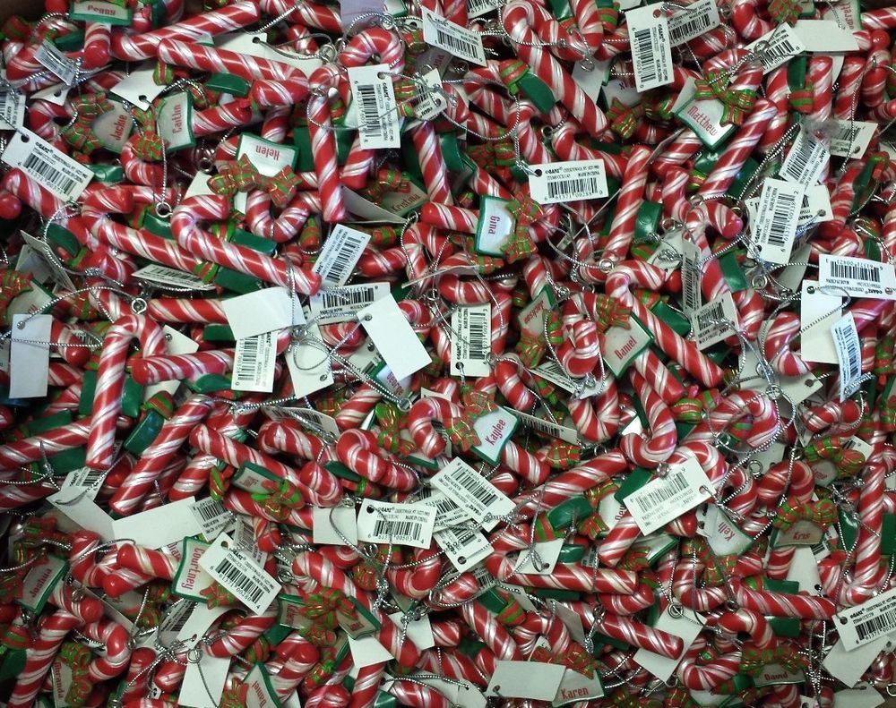 Candy Cane Christmas Ornaments  1 New Ganz Candy Cane Name Christmas Ornament s Gift