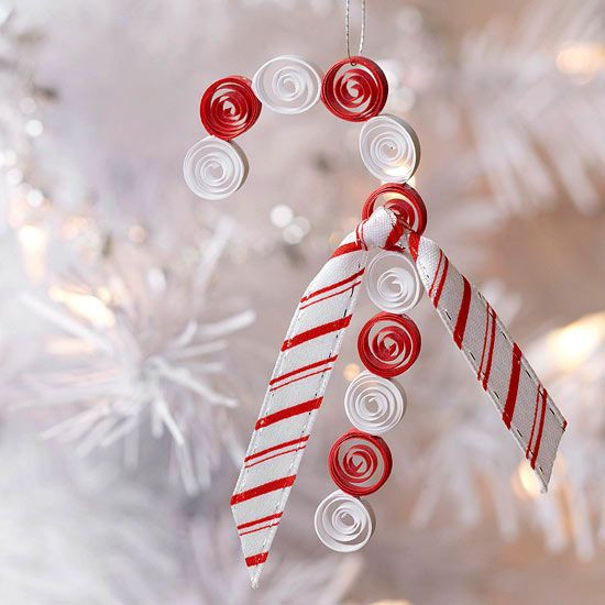 Candy Cane Christmas Ornaments  Quilled Candy Cane Christmas Ornament for Kids