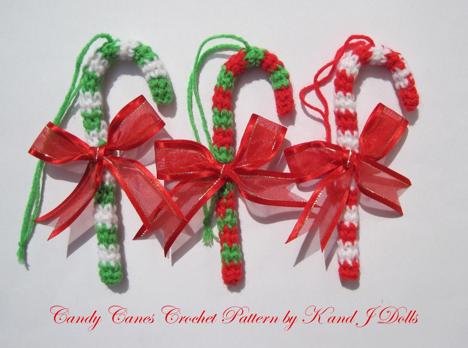 Candy Cane Christmas Ornaments  Christmas ornaments crochet pattern Sayjai Amigurumi