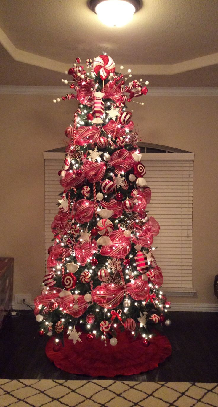 Candy Cane Christmas Tree Decorating Ideas  Best 25 Peppermint christmas decorations ideas on