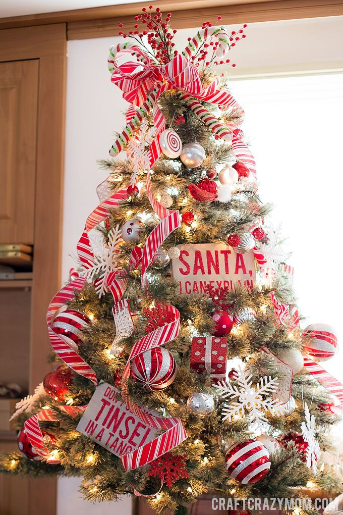 Candy Cane Christmas Tree Decorating Ideas  Oh Christmas Tree s Oh Christmas Tree s Craft Crazy