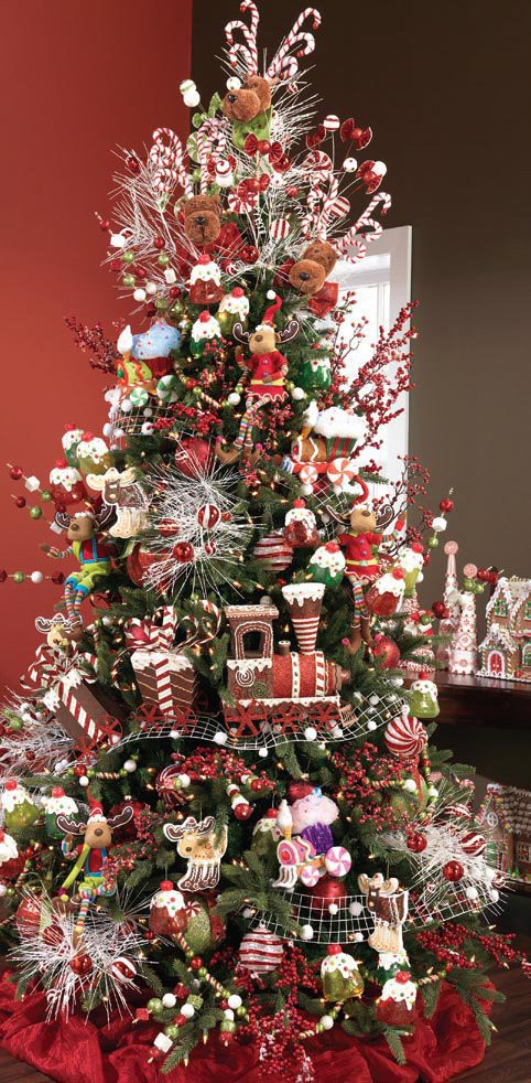 Candy Cane Christmas Tree Decorating Ideas  24 Amazing Christmas Trees for You to Set Up This Year