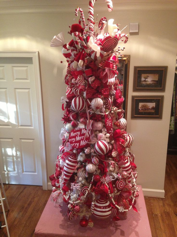 Candy Cane Christmas Tree Decorating Ideas  Image result for search for the best candy decorated