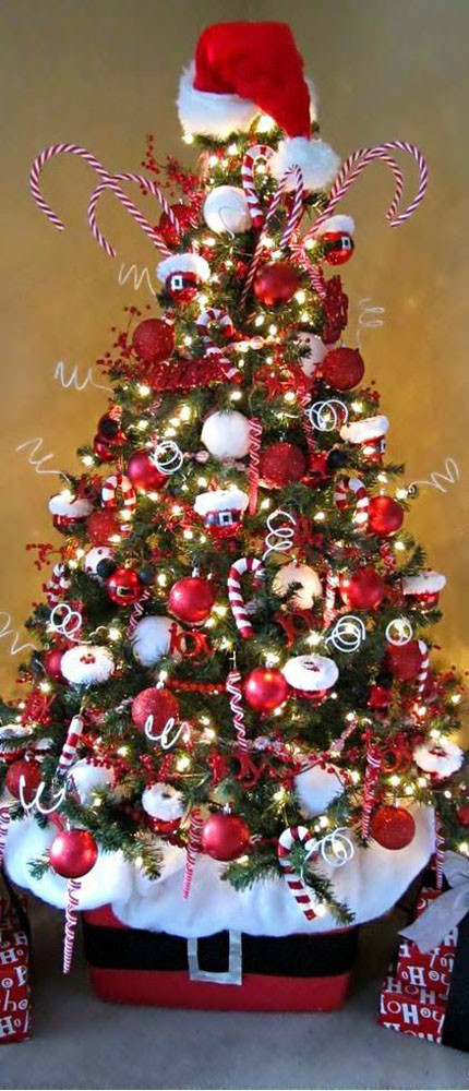 Candy Cane Christmas Tree Decorating Ideas  Most Pinteresting Christmas Trees on Pinterest Christmas