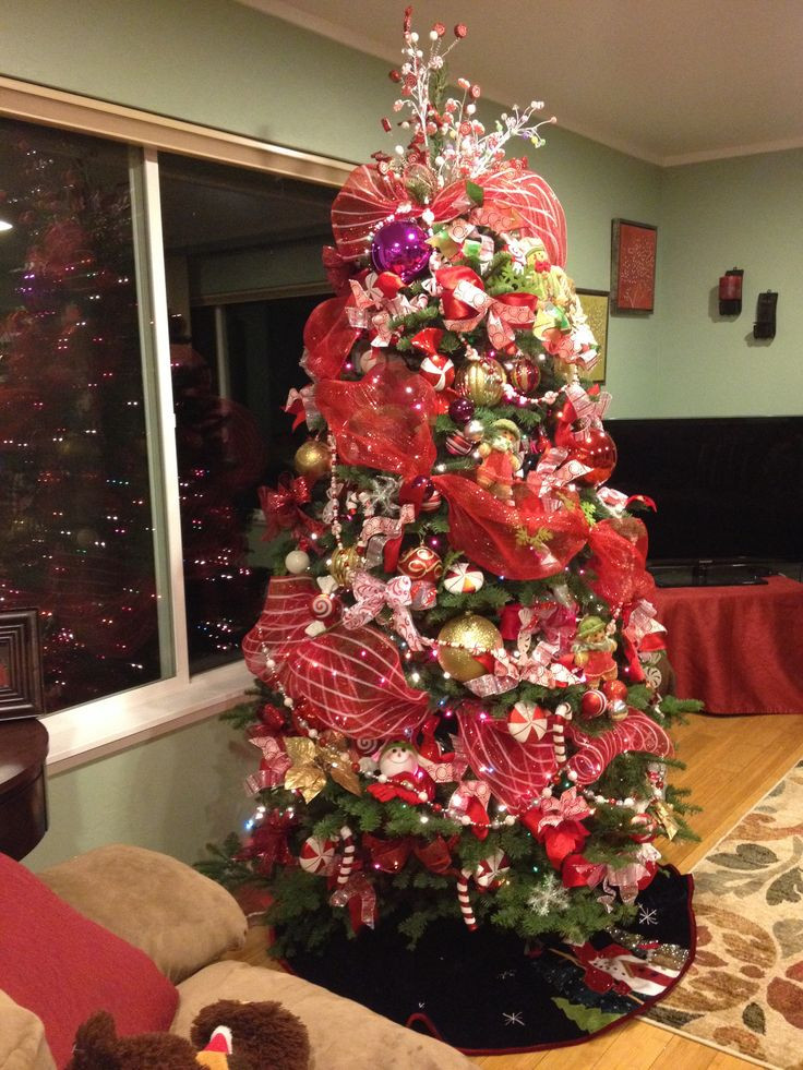 Candy Cane Christmas Tree Decorations  17 Best images about CHRISTMAS TREES on Pinterest
