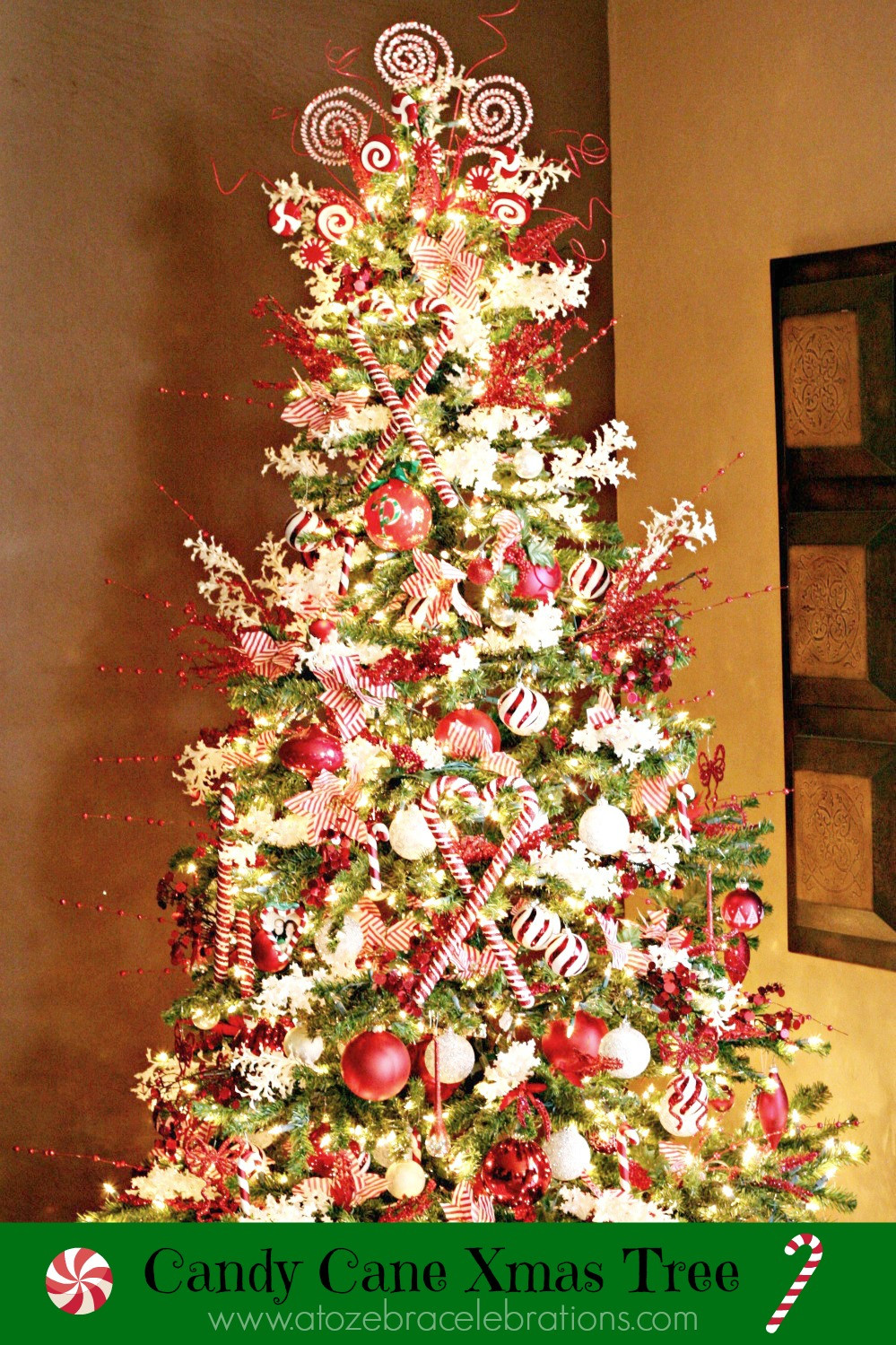 Candy Cane Christmas Tree  Christmas Tree 2012 – A to Zebra Celebrations