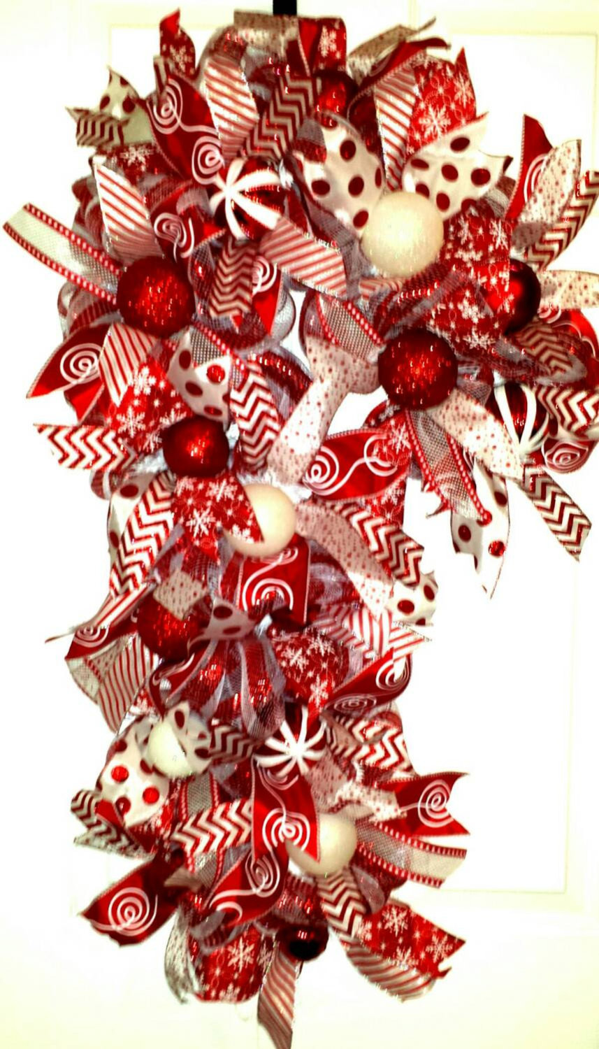 Candy Cane Christmas Wreath  Candy Cane Candy Cane Wreath Candy Cane Door Wreath