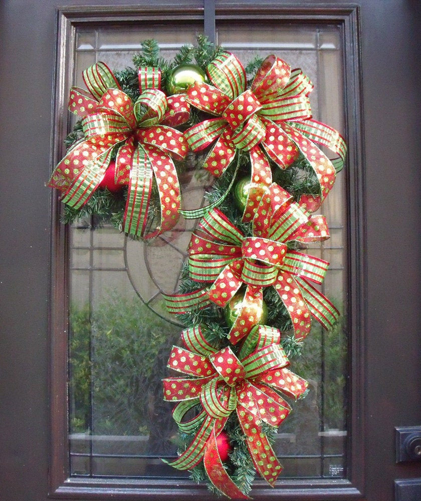 Candy Cane Christmas Wreath  Candy Cane Wreath Christmas Wreath Candy Cane Decoration