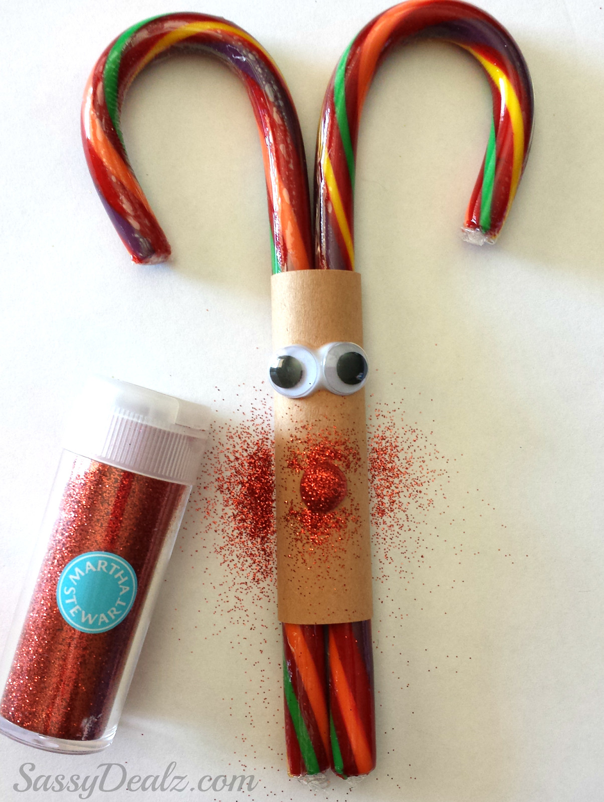 Candy Cane Crafts For Christmas  Candy Cane Reindeer Christmas Craft or Treat For Kids