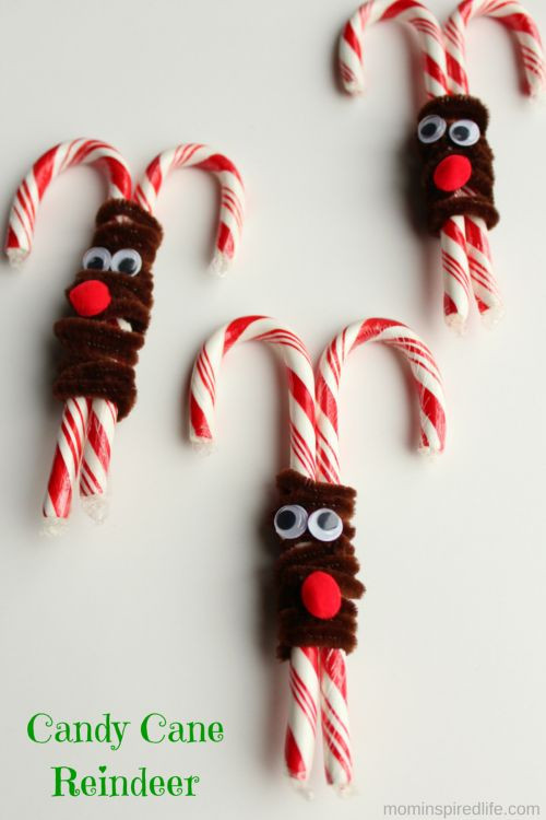 Candy Cane Crafts For Christmas  Candy Cane Reindeer