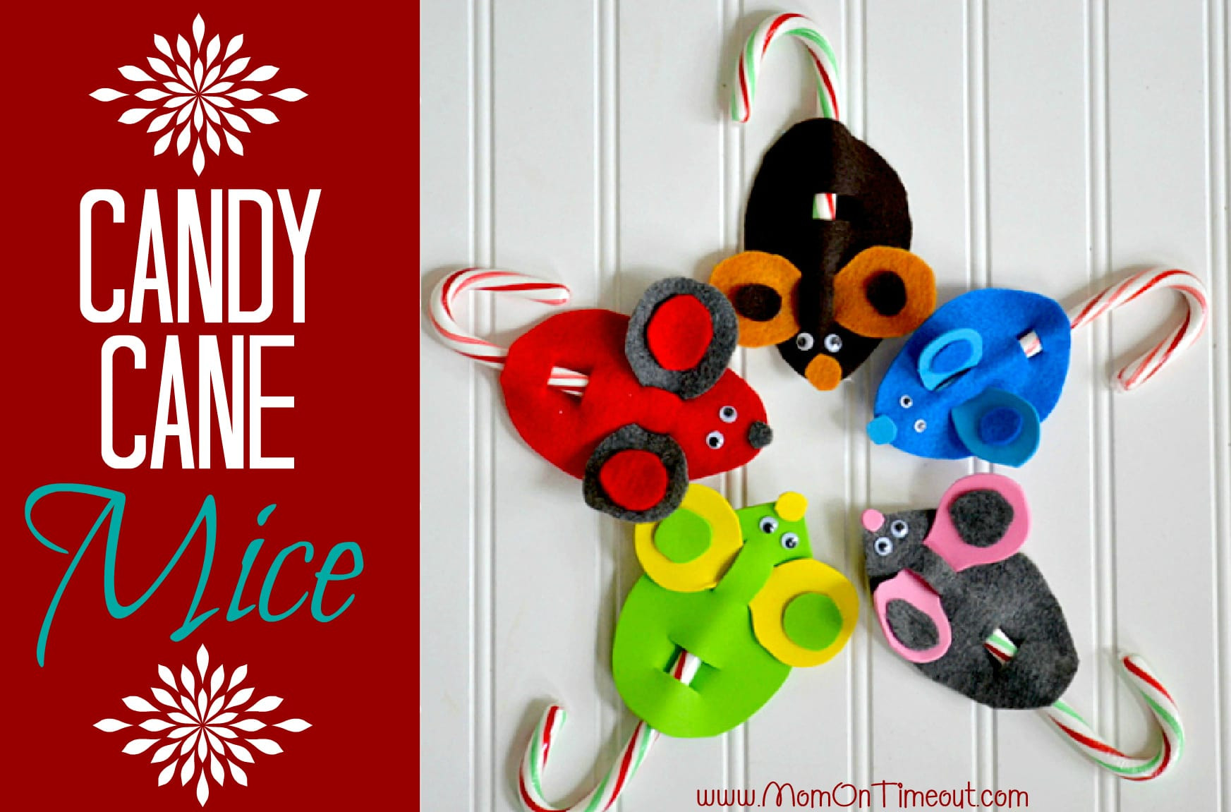Candy Cane Crafts For Christmas  Candy Cane Mice