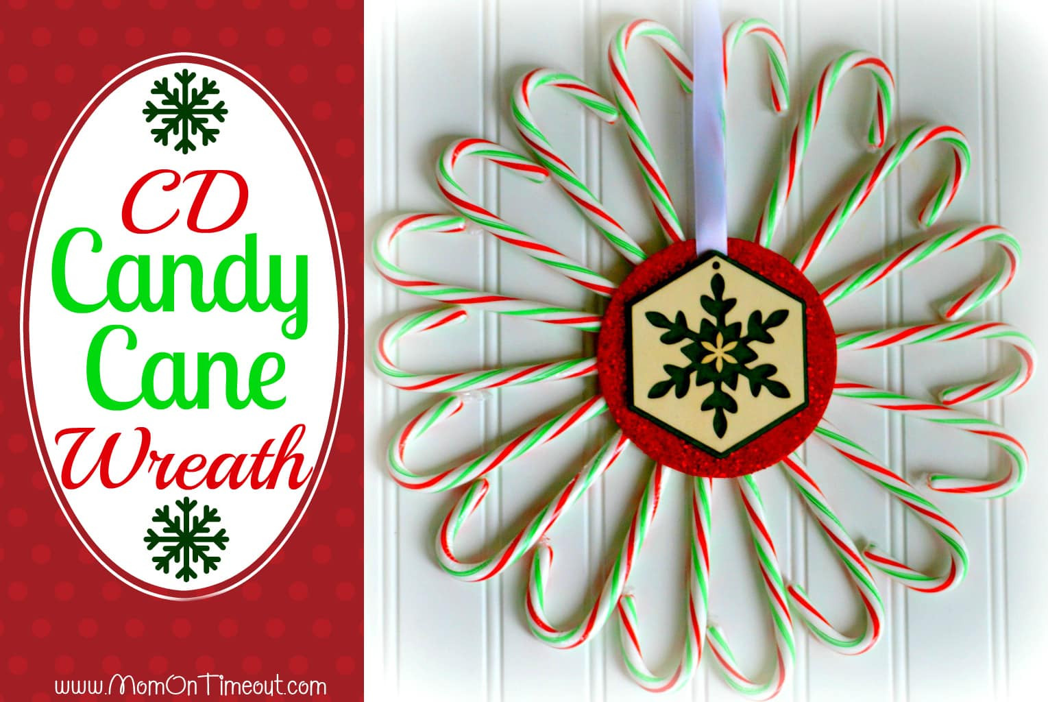 Candy Cane Crafts For Christmas  Candy Cane CD Wreath Mom Timeout