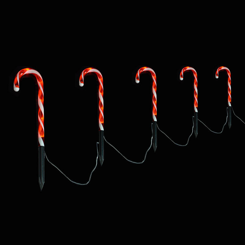 Candy Cane Led Christmas Lights  Christmas Light Up Set 5 Candy Canes Decoration Outdoor