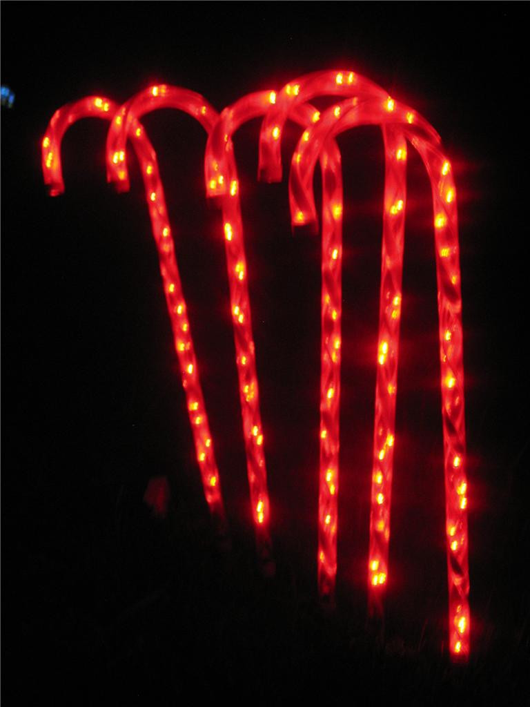 Candy Cane Led Christmas Lights  LED Christmas Candy Cane Path Light Set