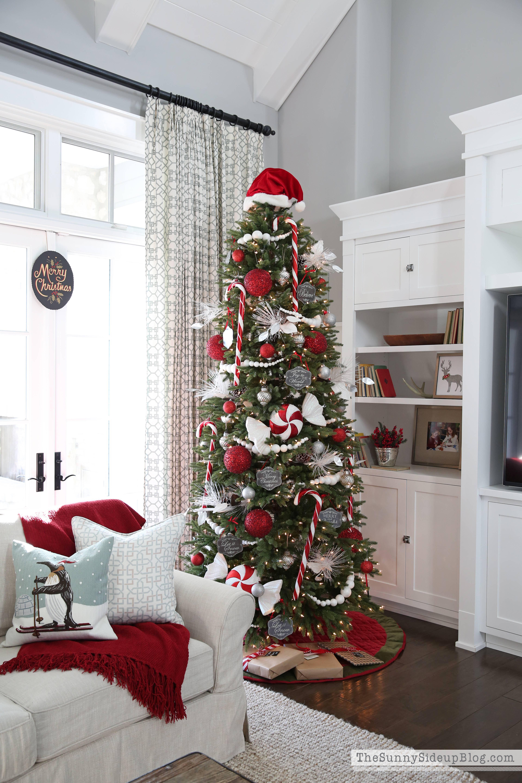 Candy Canes On Christmas Tree  Magnolia Lane Christmas Tour The Sunny Side Up Blog